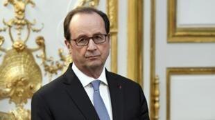 François Hollande à l'Elysée le 17 novembre 2016.