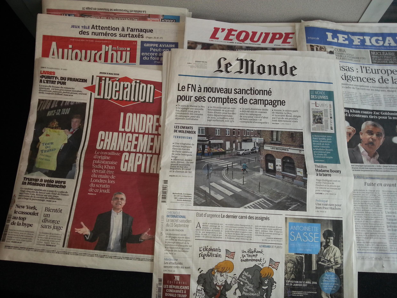 Primeiras páginas dos jornais franceses de 05 de maio de 2017