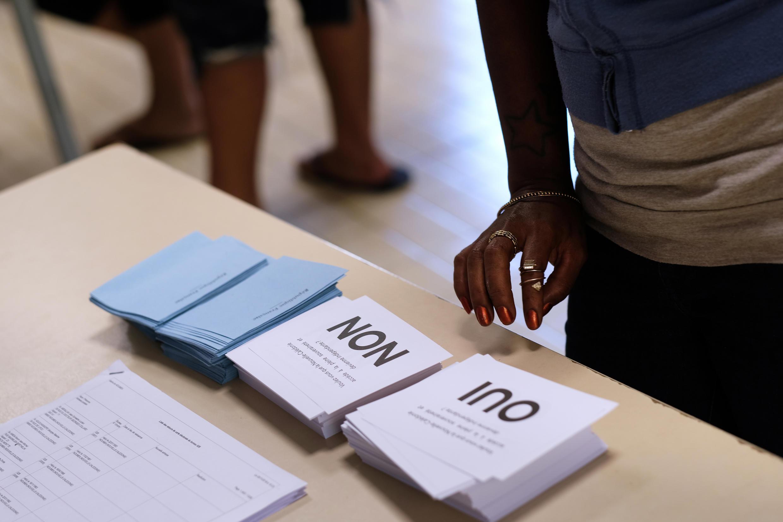 A 56%, les électeurs de Nouvelle-Calédonie ont préféré rester au sein de la République française.  Photo datée du 4 novembre 2018.