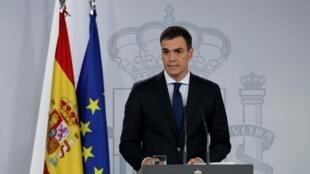 Thủ tướng Tây Ban Nha Pedro Sanchezat. Ảnh chụp ngày 06/06/2018.