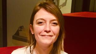 Anne-Sophie Stefanini, romancière française en studio à RFI (janvier 2020).