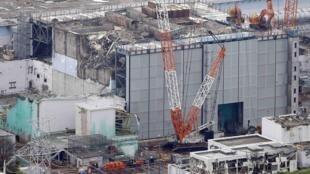 Réacteur n°3 de la centrale nucléaire de Fukushima, le 18 juillet 2013. Il est le dernier réacteur à avoir été soufflé après le tremblement de terre qui a frappé le Japon, le 11 mars 2011.