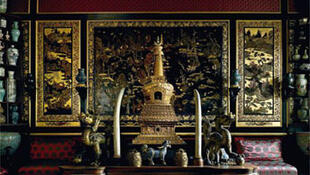 Chinese museum of Empress Eugenie, Fontainebleau chateau.