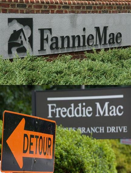 Fannie Mae và Freddie Mac bị lỗ nặng trong cuộc khủng hoảng địa ốc năm 2007 (AFP)