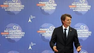 O ministro francês das Finanças, François Baroin, durante o G7 em Marselha, nesta sexta-feira.
