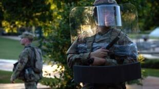 La Garde nationale déployée lors de manifestation à Atlanta en Georgie le 30 mai 2020.