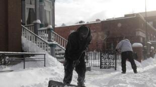 Froid polaire détroit dans le Michigan, le 7 janvier 2013.