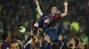 Lionel Messi, après son but contre Séville, le 22 novembre 2014.