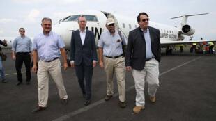 Le Représentant spécial adjoint du Secrétaire général de l'ONU en RD Congo, David Gressly, arrive à l'aéroport de Goma dans le cadre d'une visite de terrain à Beni et Eringeti avec les ambassadeurs des pays membres du Conseil de Sécurité