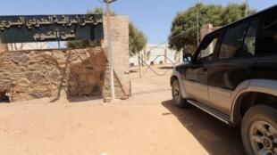 A la frontière entre la Libye et l'Algérie.