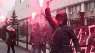 Акция у Олимпийского комитета в Москве, 5 февраля 2014.