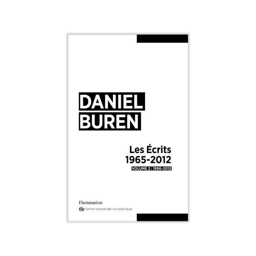 « Les Ecrits » volume 2, de l'artiste contemporain français Daniel Buren, paru aux éditions Flammarion.