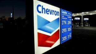 Una gasolinera Chevron en California.
