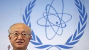 圖為國際原子能署總幹事天野之彌生前資料照片