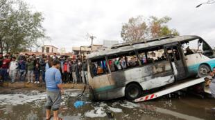 巴格达东北部繁忙城市萨德尔城广场发生一起汽车爆炸事故,已知32人死;61人受伤