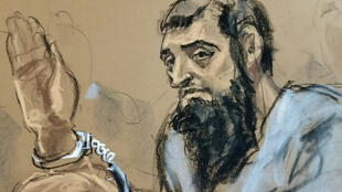 تصویر نقاشی شدۀ سیفالله سایپف عامل اقدام تروریستی منهتن در نیویورک