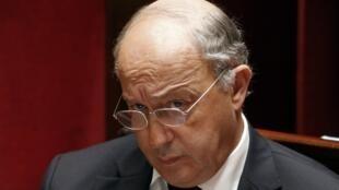 Le ministre français des Affaires étrangères, Laurent Fabius, le 28 novembre 2014 à l'Assemblée.