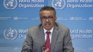 El director general de la Organización Mundial de la Salud, Tedros Adhanom Ghebreyesus, el 30 de marzo de 2020 en Ginebra