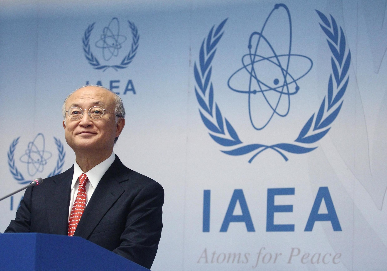 Yukiya Amano, diretor-geral da AIEA, vai analisar com outros dirigentes os termos do acordo proposto em  de fevereiro de 2014, em Teerã.