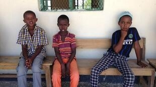 Students at Abdiqadir school in Awdal region, Somaliland, taking a break after their lessons