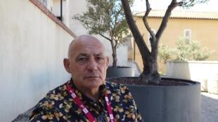 Pascal Maitre, le 6 septembre 2019 à Perpignan où est exposée sa série «Sahel en danger - Une bombe à retardement».