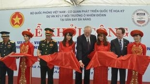 at a military airport in Vietnam's central Danang city August 9, 2012