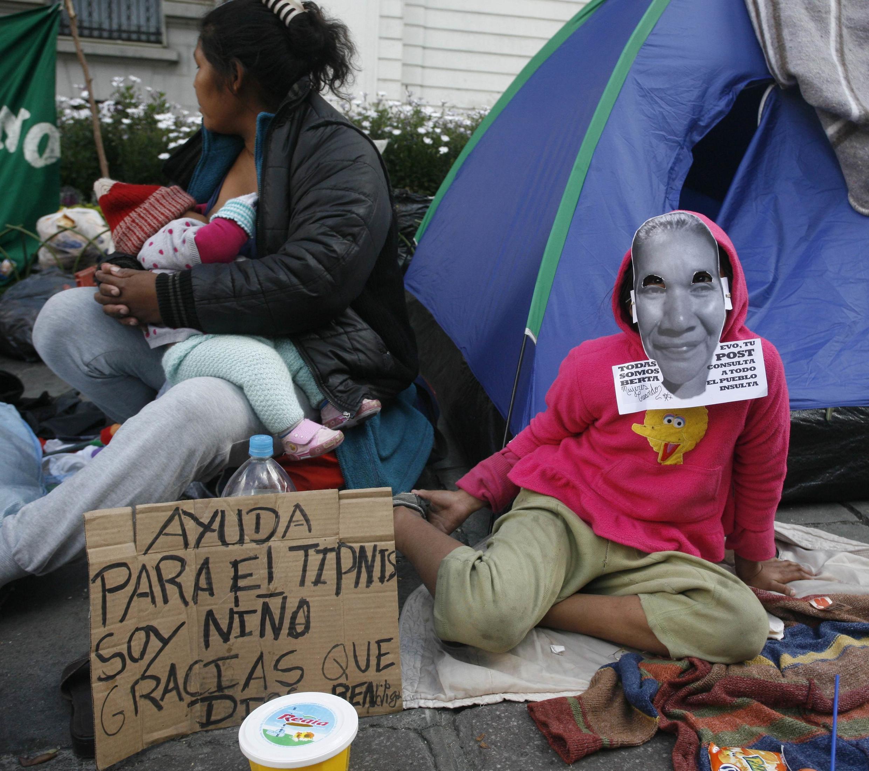 Los indígenas de Isiboro Secure se instalaron en La Paz luego de una marcha de 640kms.