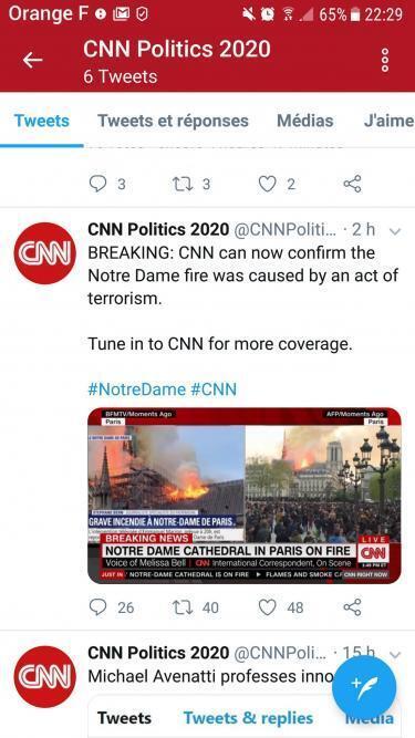 Falsa cuenta de CNN.