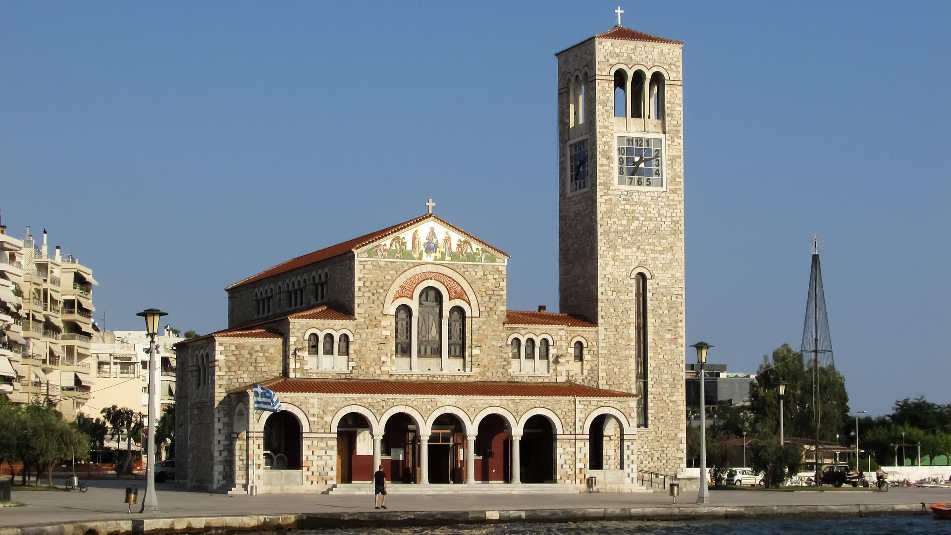 Une église orthodoxe en Grèce.