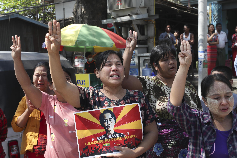 Birmanie - Manifestation - Femmes - Résistance - AP21064283281356