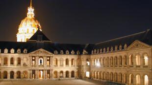 Une vue du musée de l'Armée, hôtel des Invalides.