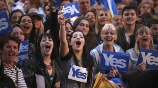 Os partidários da independência da Escócia manifestaram até a véspera do referendo