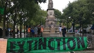 Extinction Rebellion, place du Châtelet à Paris, le 9 octobre 2019.