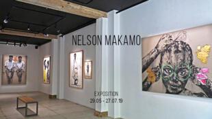 Le peintre Nelson Makamo expose à la Galerie Loo & Lou à Paris jusqu'au 27 juillet.