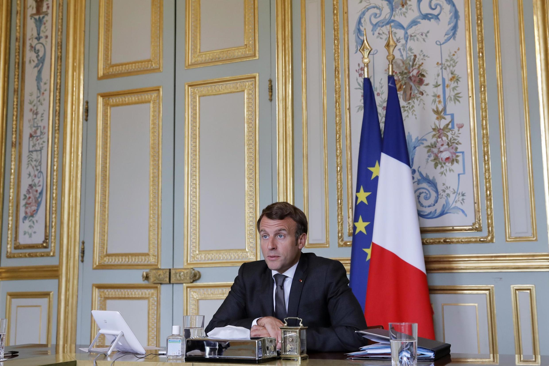 President Macron, Elysées Palace, July 2020