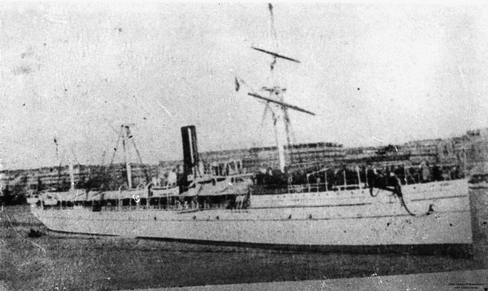 Le «Djemnah» fut construit en 1874 et oesait 3785 tonnes. Il a été torpillé en Méditerranée le 14 juillet 1918.