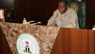 Nigerian Acting President Goodluck Jonathan on 10 February