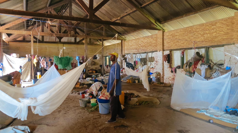 Site de déplacés de Yamba en mai 2017 (photo d'illustration).