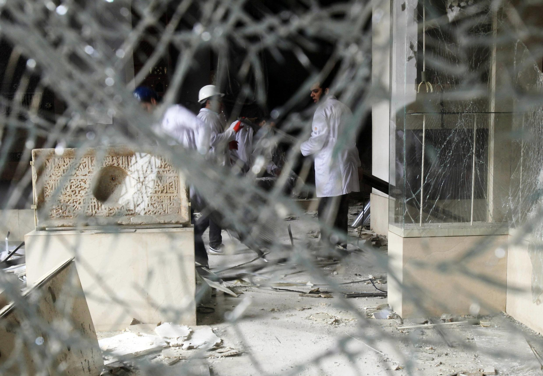 Les dégâts provoqués par l'attaque à la voiture piégée sont immenses au Musée d'art islamique du Caire.