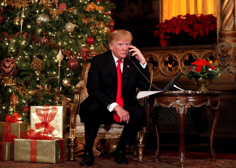Tổng thống Mỹ Donald Trump. Ảnh ngày 24/12/2017.