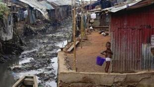 Yankin Mabella dake wajen Freetown, babban birnin kasar Saliyo. 13/3/2008.