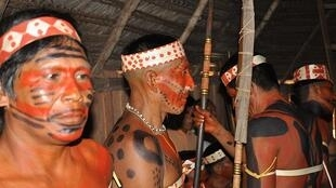 Miembros del pueblo Mayoruna