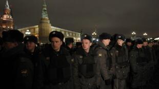 Войска МВД на Манежной 11 января 2011 г.