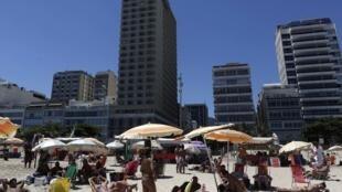 Vista da praia de Ipanema no Rio de Janeiro.