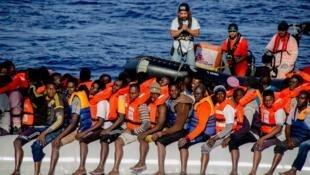 Sauvetage en Méditerranée.