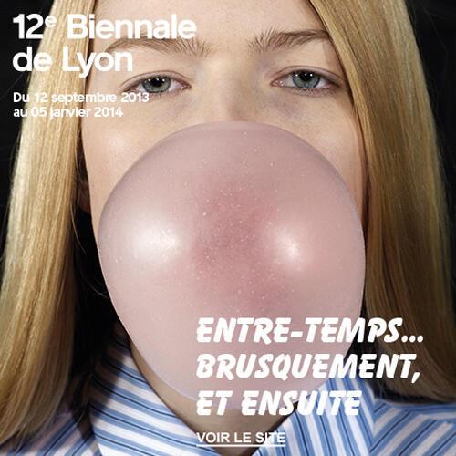 Uno de los afiches de la 12a Bienal de Lyon