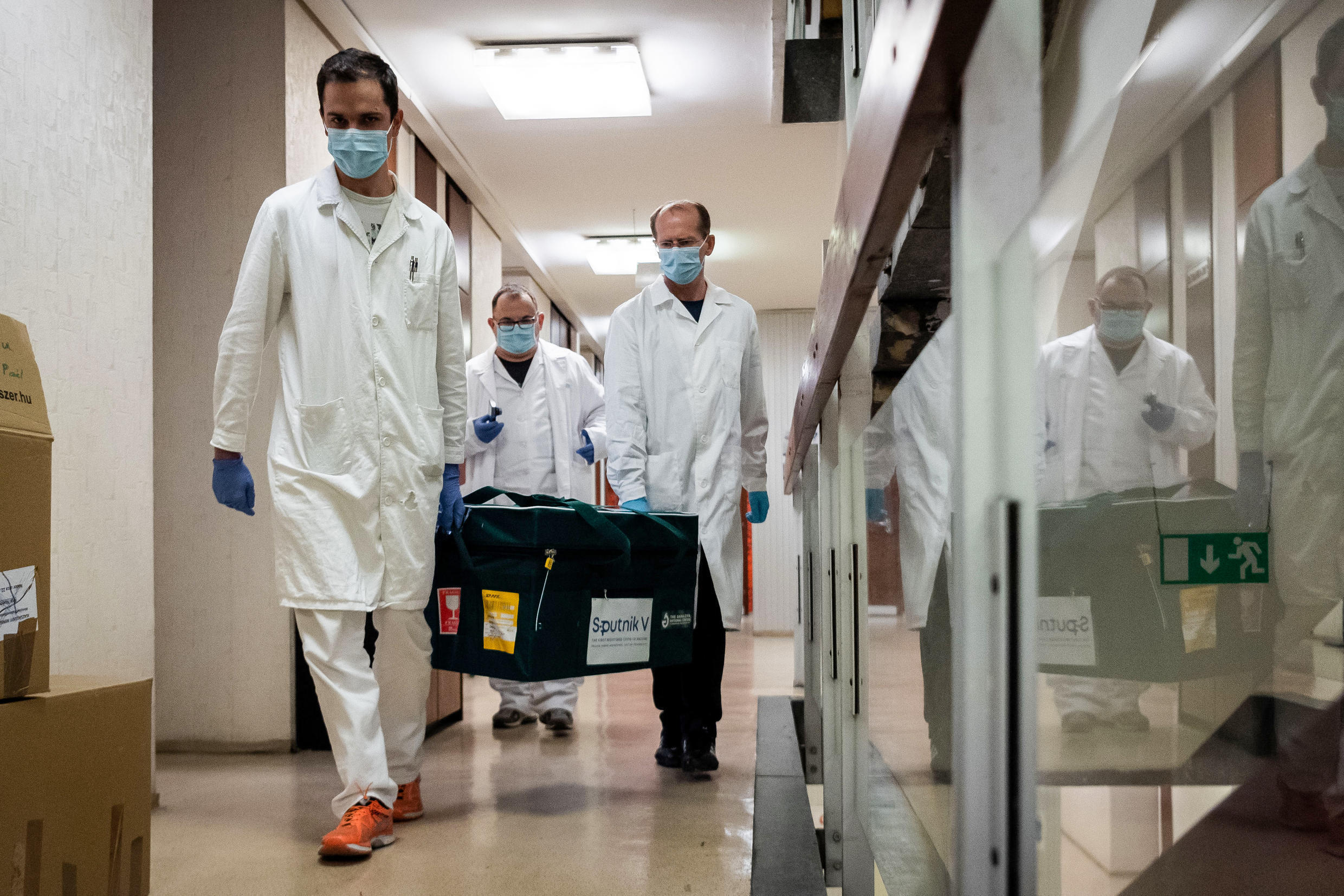 A delivery of Russia's Sputnik V coronavirus vaccine arrived in Hungary last week