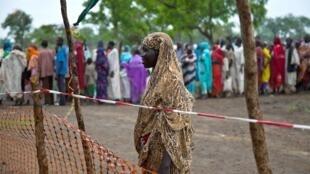 Le ministre sud-soudanais de la Justice a reconnu un bilan mitigé concernant les droits humains. Photo dans un camp de déplacés.