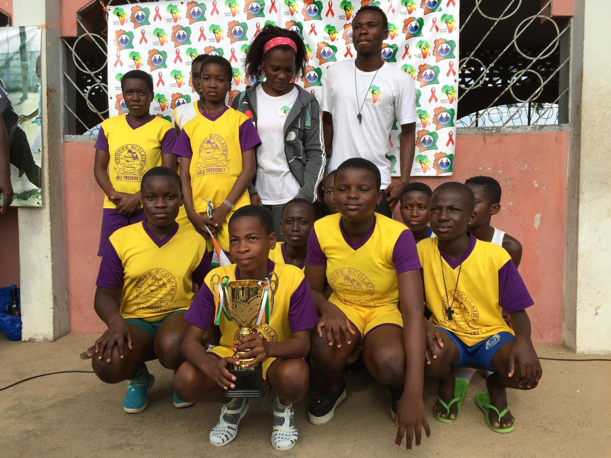 One of the winning teams of youth football in Côte d'Ivoire