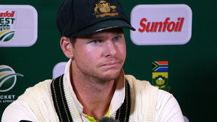 Australia's captain Steve Smith speaking during a press conference in Cape Town, on March 24, 2018